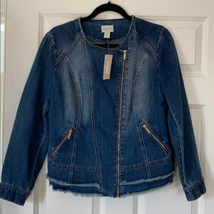 Chico's Moto-Denim Jacket